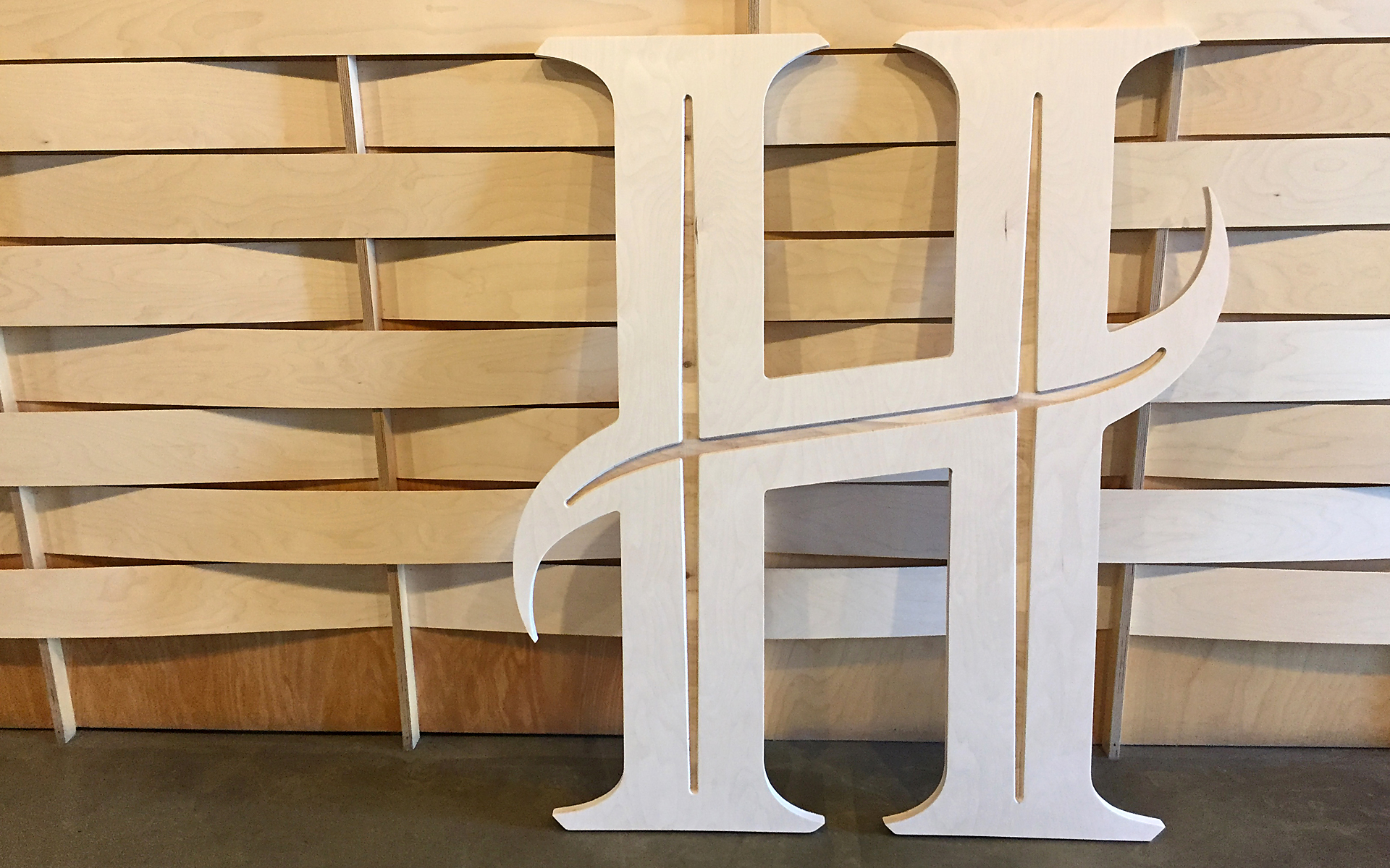 Hero Logo Cutout of Wood