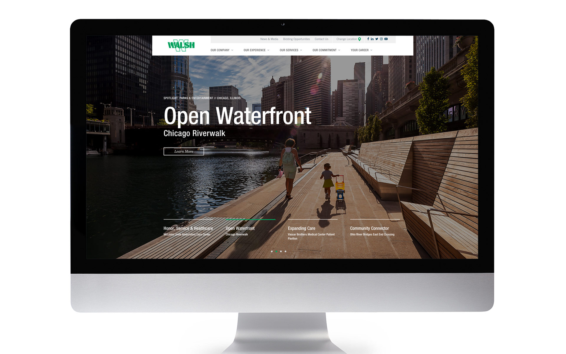 Walsh Website Landing Page