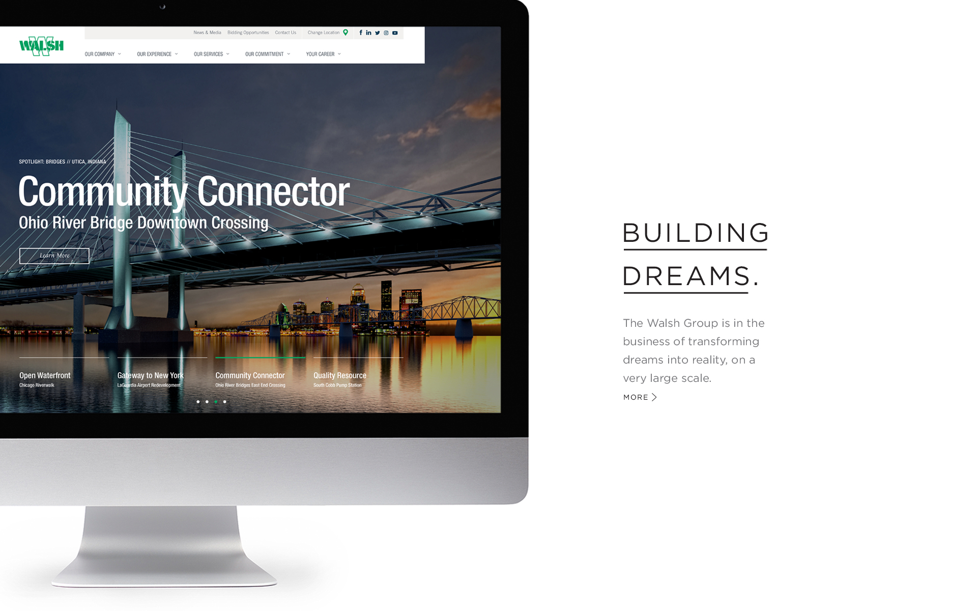 Walsh Construction Website